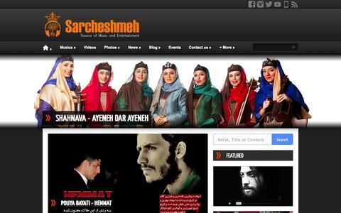Screenshot of Home Page sarcheshmeh.us - Sarcheshmeh - captured Sept. 23, 2014