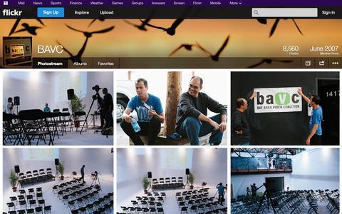 Screenshot of Flickr Page flickr.com - Flickr: BAVC's Photostream - captured Oct. 23, 2014
