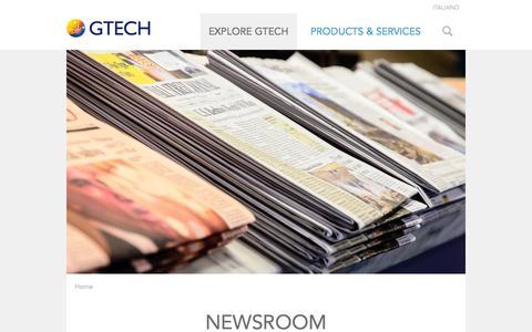 Screenshot of Press Page gtech.com - Newsroom   GTECH.COM - captured Oct. 29, 2014