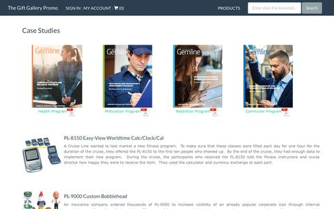 Screenshot of Case Studies Page thegiftgallerypromo.com - Case Studies | The Gift Gallery Promo Company-branded Products and Apparel - captured Oct. 18, 2018