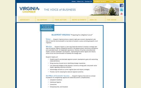 Screenshot of About Page vachamber.com - Mission - Virginia Chamber of Commerce - captured Oct. 26, 2014