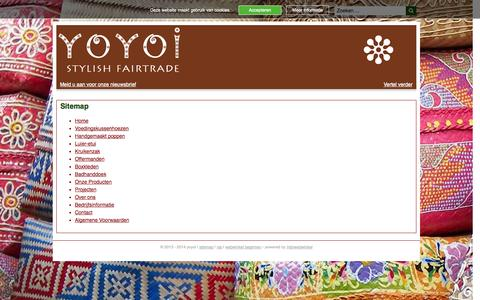 Screenshot of Site Map Page yoyoi.nl - Sitemap | yoyoi - captured Oct. 27, 2014