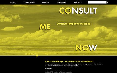 Screenshot of Blog comeno.de - COMENO - Blog - captured July 9, 2017