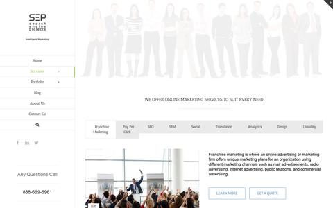 Screenshot of Services Page searchengineprojects.com - Internet Marketing Services in Orange County, Best Internet Marketing - captured June 9, 2019