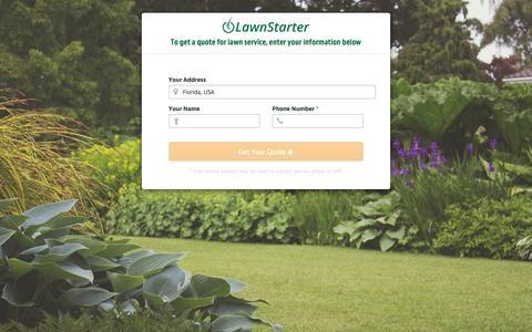 Screenshot of Signup Page lawnstarter.com - LawnStarter - captured May 12, 2017