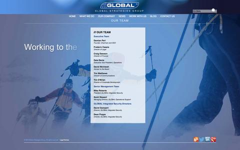 Screenshot of Team Page globalgroup.com - OUR TEAM | GLOBAL STRATEGIES GROUP - captured Oct. 2, 2014