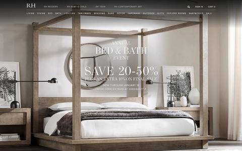 Screenshot of Home Page restorationhardware.com - RH Homepage - captured Jan. 14, 2016