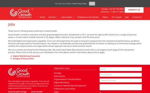Screenshot of Jobs Page goodgrowth.co.uk - Jobs - Good Growth - captured Aug. 29, 2017