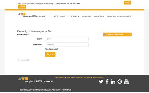 Login - Careers at Houghton Mifflin Harcourt Publishing Company