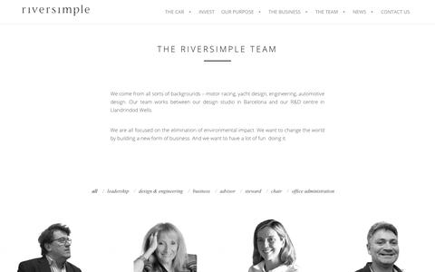 Screenshot of Team Page riversimple.com - THE RIVERSIMPLE TEAM - - captured Nov. 5, 2017