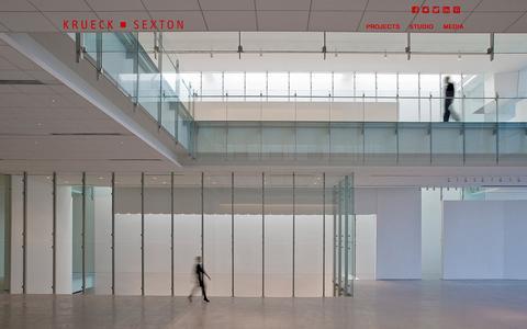 Screenshot of Home Page ksarch.com - Krueck + Sexton Architects - captured Feb. 12, 2016