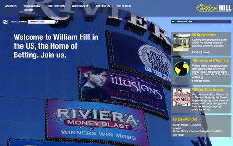 Screenshot of Jobs Page williamhillplc.com - Welcome to the William Hill careers website. | William Hill - captured Oct. 26, 2014
