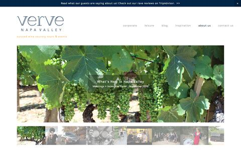 Screenshot of Press Page vervenapavalley.com - News & Press — Verve Napa Valley - captured Oct. 27, 2017