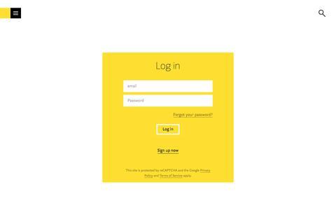 Screenshot of Login Page fontshop.com - FontShop - captured July 13, 2019