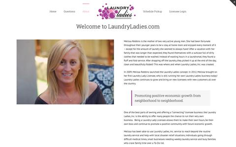Screenshot of About Page laundryladies.com - About – New.LaundryLadies.com - captured Jan. 27, 2019