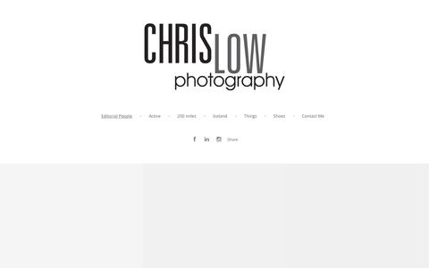Screenshot of Team Page chrislowphoto.com - Chris Low's Portfolio - Editorial People - captured Feb. 1, 2016