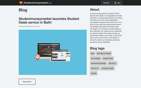Screenshot of Blog studentmoneymarket.com - Blog   Studentmoneymarket.com - captured Aug. 15, 2015