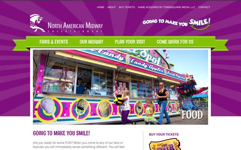 Screenshot of Home Page namidway.com - The Largest Traveling Outdoor Amusement Park in the World! - North American Midway Entertainment (NAME) - captured Feb. 15, 2016