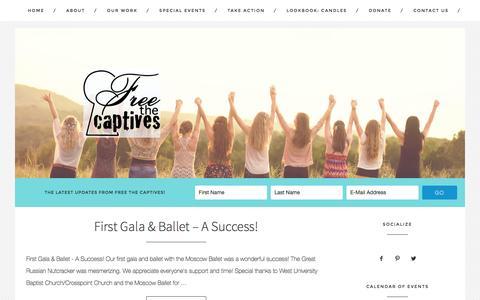 Screenshot of Blog freethecaptiveshouston.com - Newsletter Archives - Free The Captives Houston - captured Jan. 24, 2016