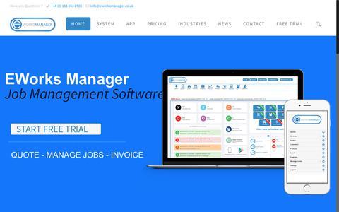 Job Management Software - EWorks Manager System