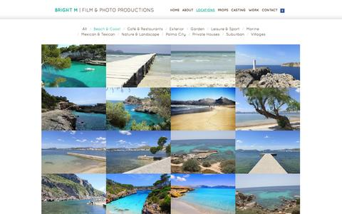 Screenshot of Locations Page brightm.com - Beach & Coast - Locations - Bright M - captured Oct. 5, 2014