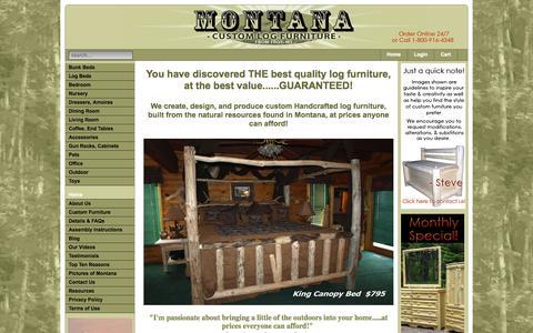 Screenshot of Home Page mtlogfurniture.net - Montana Custom Log Furniture - captured Oct. 6, 2014
