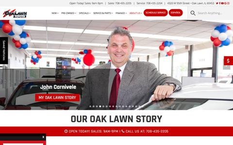 Screenshot of About Page oaklawntoyota.com - Toyota & Used Car Dealer | Oak Lawn Toyota - captured Sept. 20, 2018