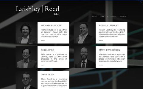Screenshot of Team Page laishleyreed.com - TEAM | Laishley Reed LLP Toronto - captured Sept. 26, 2018