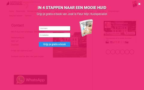Screenshot of Contact Page mijnhuidspecialist.nl - Contact - captured Oct. 12, 2017