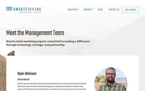 Screenshot of Team Page smartetailing.com - SmartEtailing Management Team - captured July 16, 2018