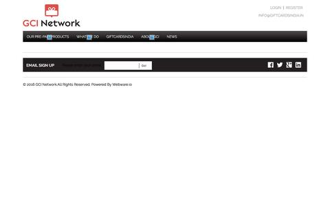 Screenshot of Services Page gcinetwork.co - GCI Network - captured July 9, 2016
