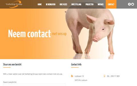 Screenshot of Contact Page varketing.nl - Contact – Varketing - captured Sept. 28, 2018