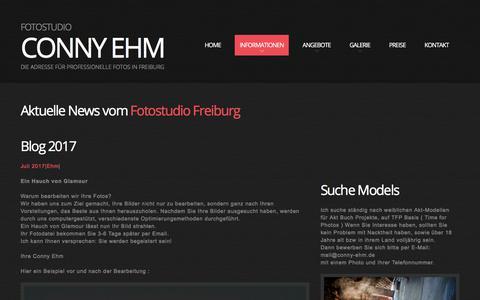 Screenshot of Blog conny-ehm.de - Blog - captured April 30, 2018