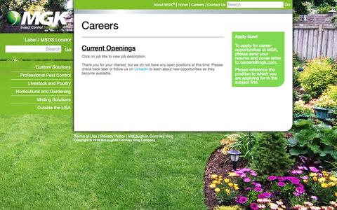 Screenshot of Jobs Page mgk.com - Careers - MGK - captured May 26, 2017