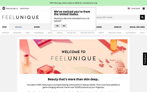 Screenshot of About Page feelunique.com - Welcome to Feelunique | About Us | Feelunique.com - feelunique.com - captured Sept. 21, 2019