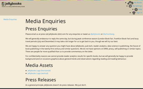 Jellybooks - Media Enquiries  - Pages