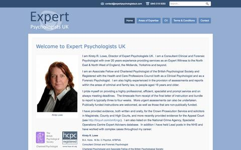 Screenshot of Home Page expertpsychologistsuk.com - Expert Psychologists UK Consultant Clinical and Forensic Psychologist - captured Sept. 30, 2014