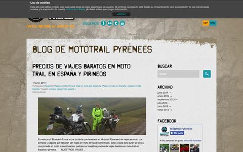Screenshot of Blog mototrailpyrenees.com - Blog de Mototrail Pyrenees-Mototrail Pyrenees - captured Sept. 30, 2014