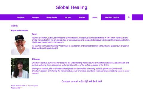 Screenshot of About Page global-healing.com - About – Global Healing - captured June 29, 2018