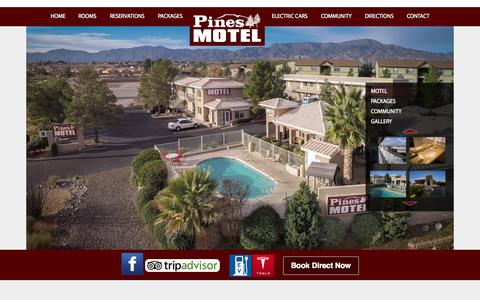 Screenshot of Home Page azpinesmotel.com - Cottonwood hotels | best hotels in cottonwood | hotels close to sedonaPines Motel - captured Sept. 18, 2015