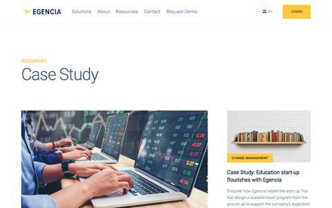 Screenshot of Case Studies Page egencia.com - Case Study | Egencia - captured July 26, 2018