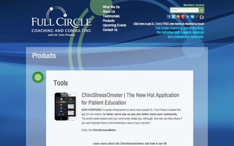Screenshot of Products Page drtompreston.com - Products | FullCircle - captured Oct. 27, 2014