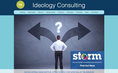 Screenshot of Home Page ideologyconsulting.com.au - Business Consulting | Health | Australia - captured Sept. 12, 2018