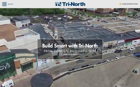 Screenshot of Home Page tri-north.com - Tri-North - Home - captured Feb. 25, 2016