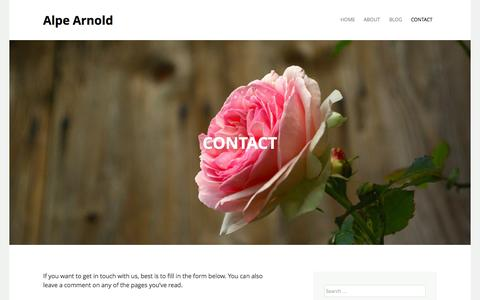 Screenshot of Contact Page alpearnold.com - Contact | Alpe Arnold - captured Sept. 30, 2014
