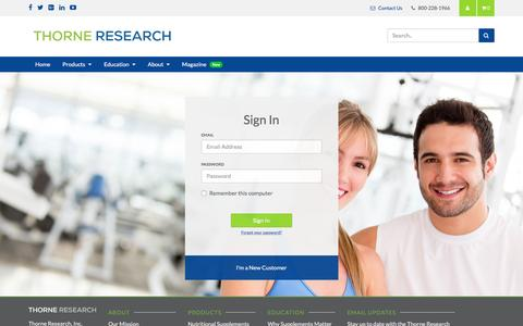 Sign In | Thorne Research