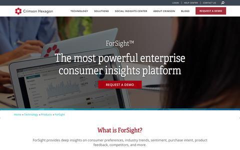 Enterprise Consumer Insights | Forsight From Crimson Hexagon