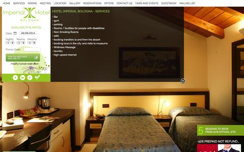 Screenshot of Services Page hotelimperialbologna.com - Our Services | Hotel Imperial Bologna - captured Sept. 30, 2014