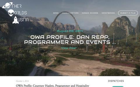 Screenshot of Press Page otherworldsaustin.com - News — Other Worlds Austin SciFi Film Festival - captured Oct. 9, 2014