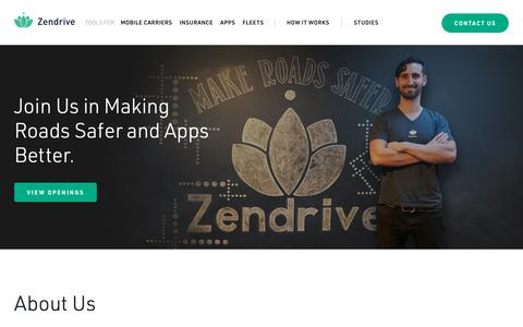Screenshot of About Page zendrive.com - About - Zendrive - captured May 18, 2019